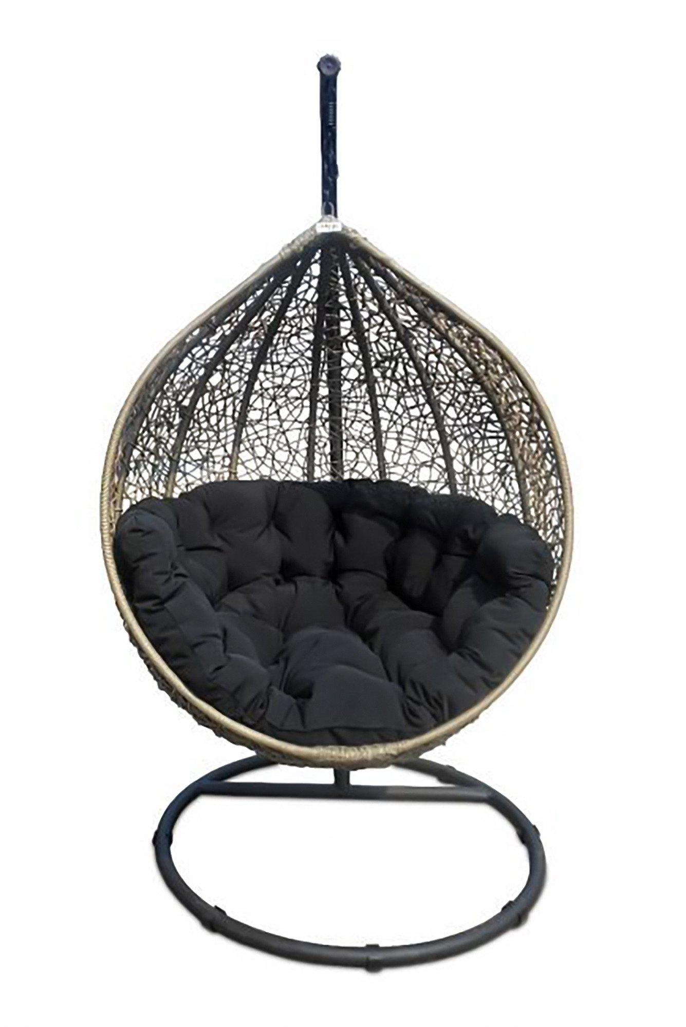 Miloo :: Fotel Cocoon brązowo-czarny szaro-czarny | MEBLE \ Krzesła MEBLE \ Ogród i balkon MEBLE ...