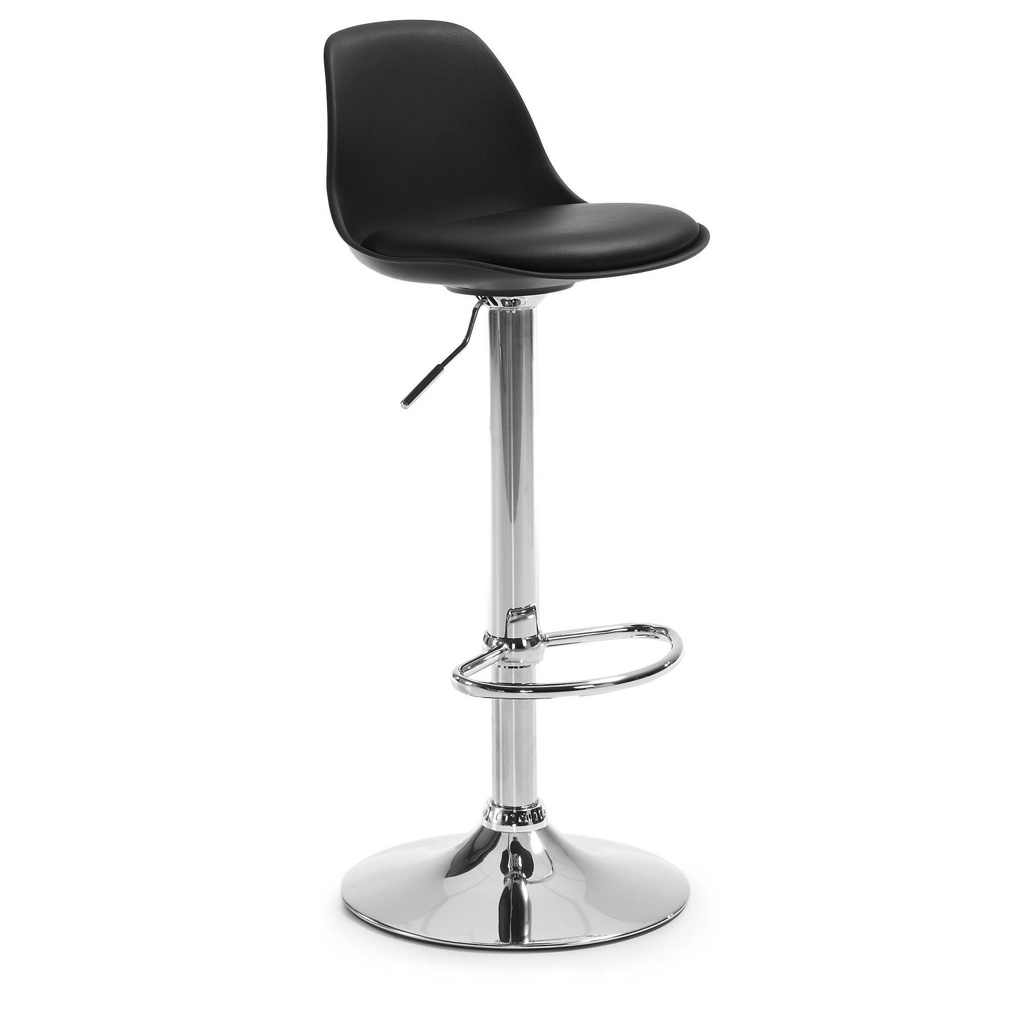 Hoker / Krzesło barowe ORLANDO czarny