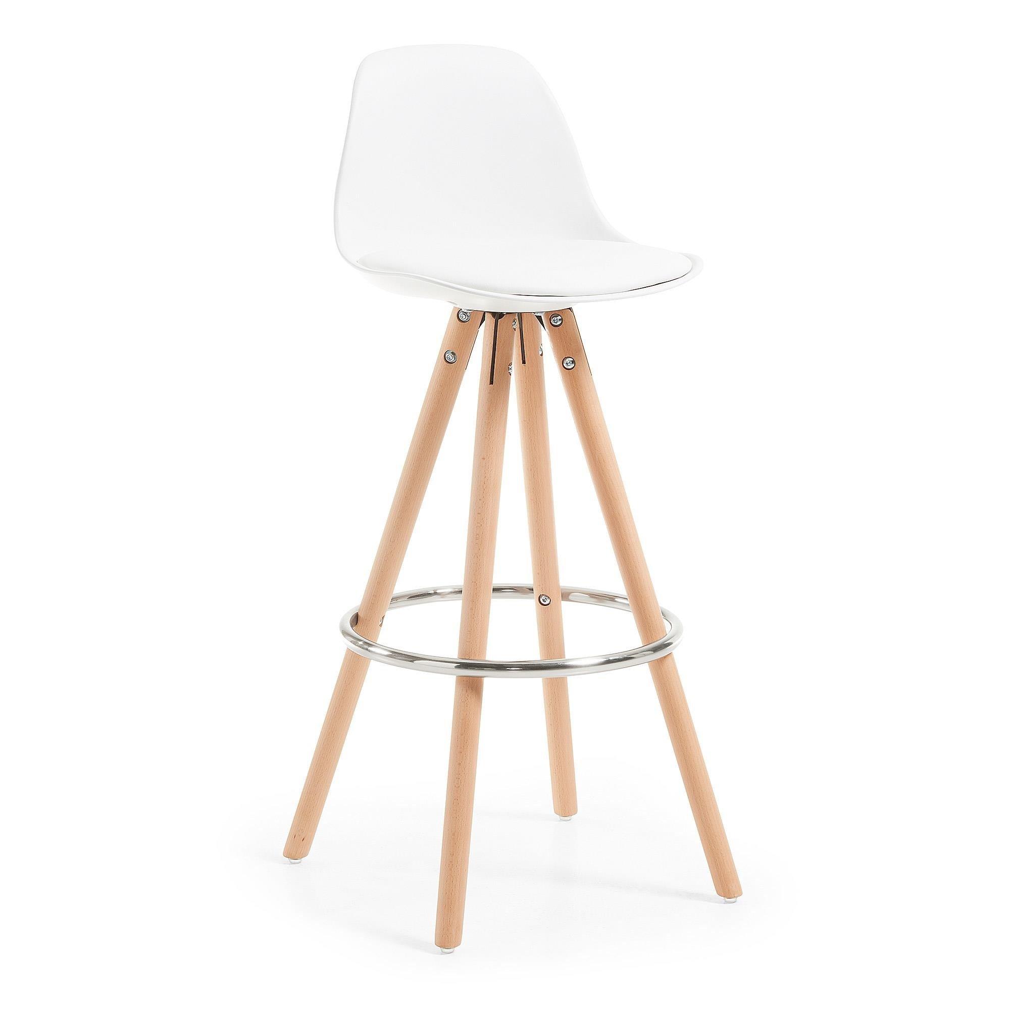 Hoker / Krzesło barowe PORFIO biały
