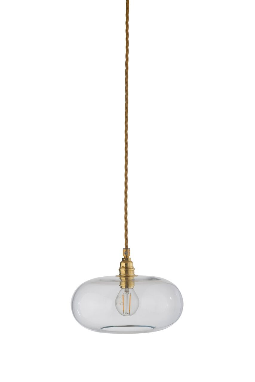 EBB & FLOW :: Lampa wisząca Horizon Ø21cm transparentno-złota