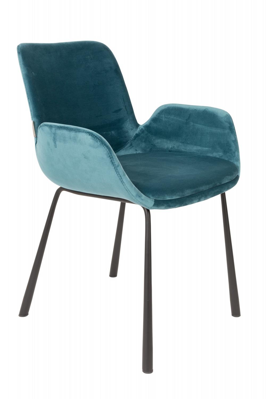 Zuiver :: Krzesło Brit - niebieskie