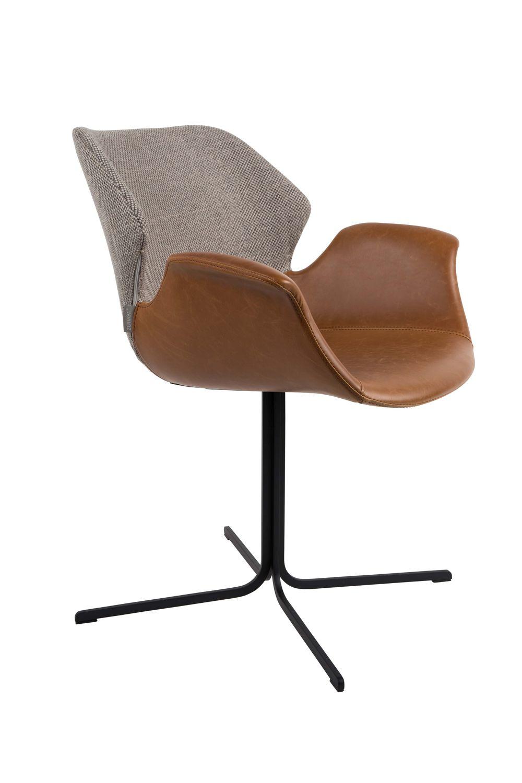 Zuiver :: Krzesło Nikki brązowo-szare