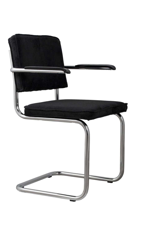 Zuiver :: Krzesło Ridge Kink Rib Czarny