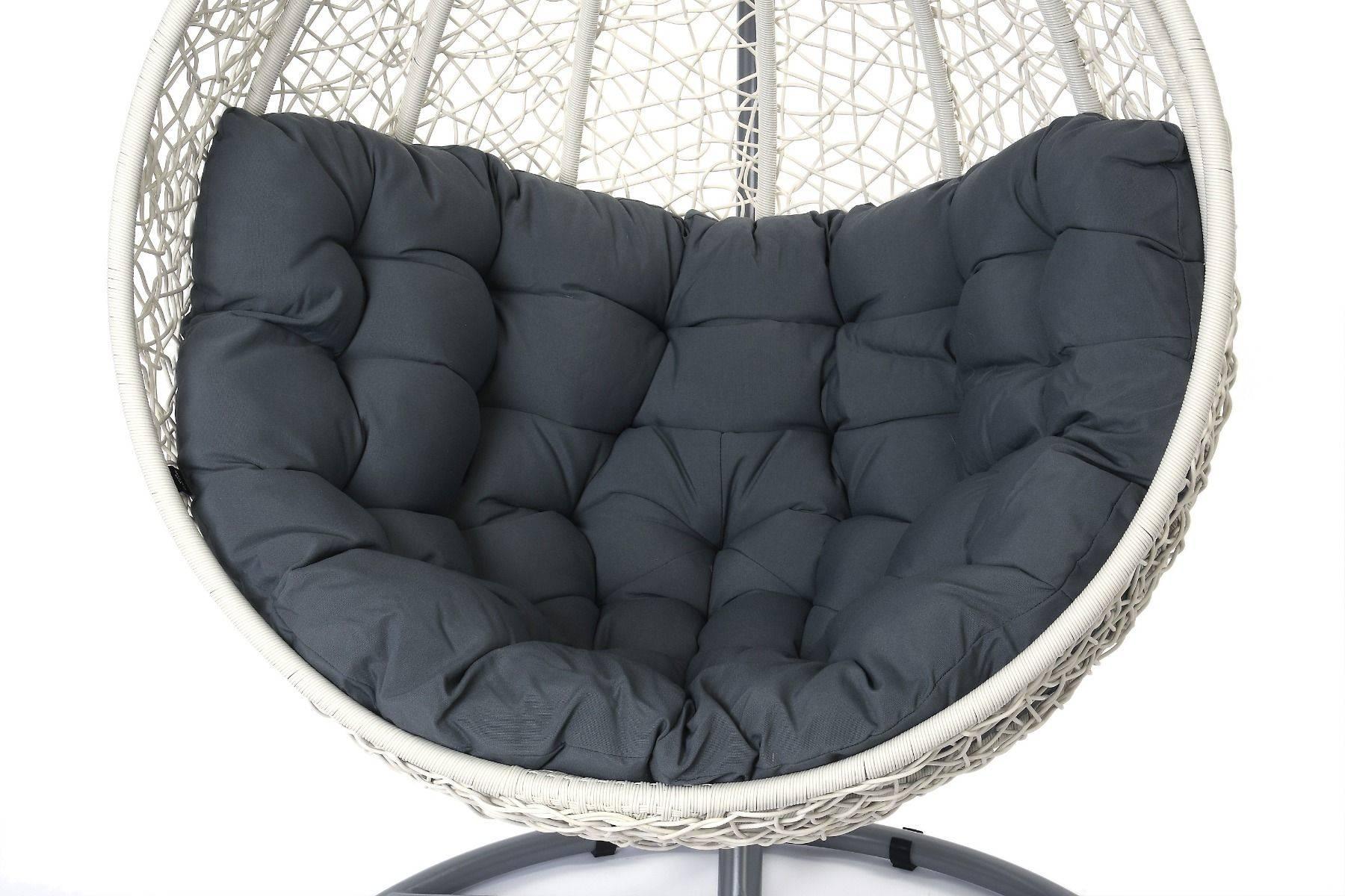 Miloo :: Fotel wiszący Cocoon biały / szary