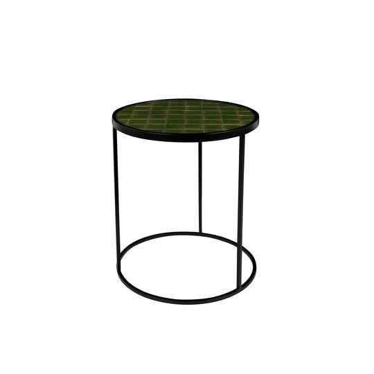 Zuiver :: Stolik kawowy GLAZED zielony Ø40 cm