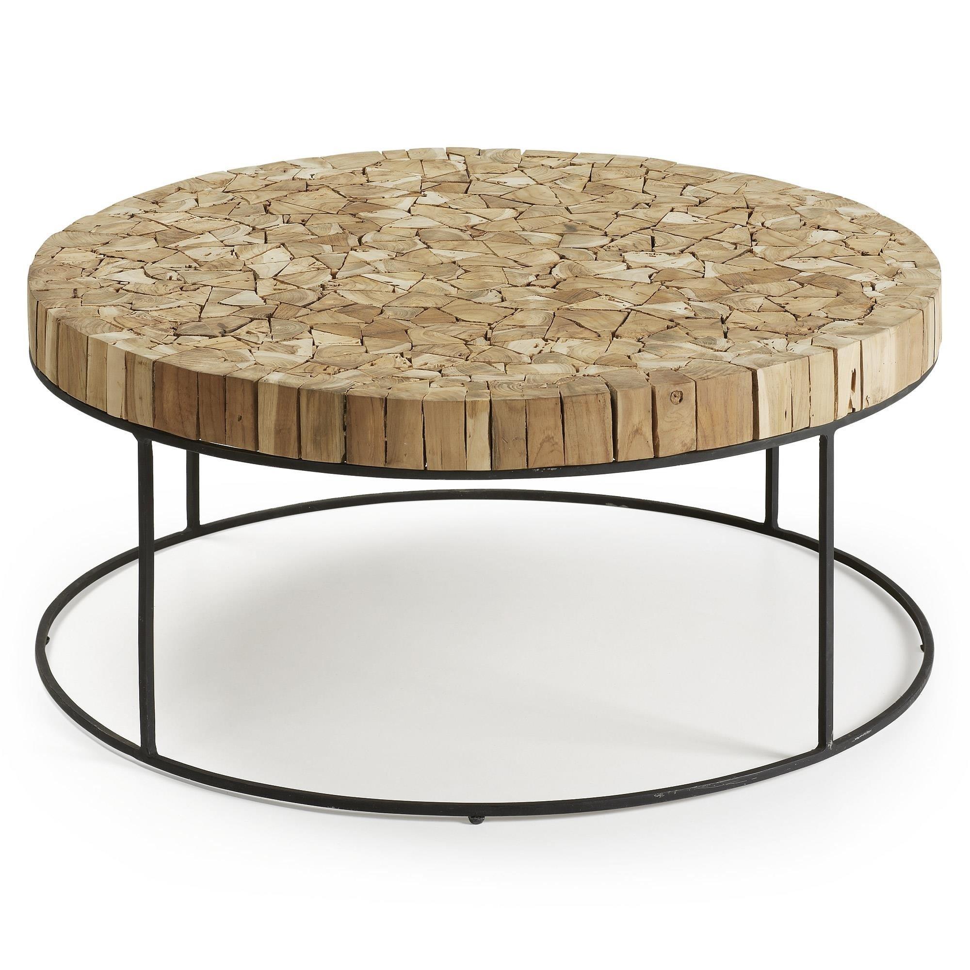 Stolik kawowy PIERRE 80x80 kolor drewniany