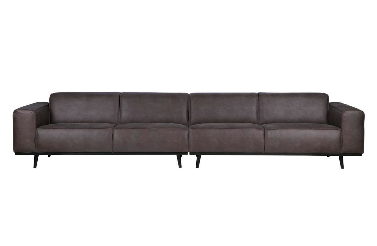 Be Pure :: Sofa Statement 4-seater 360 cm, ekoskóra, szara 9design 32144