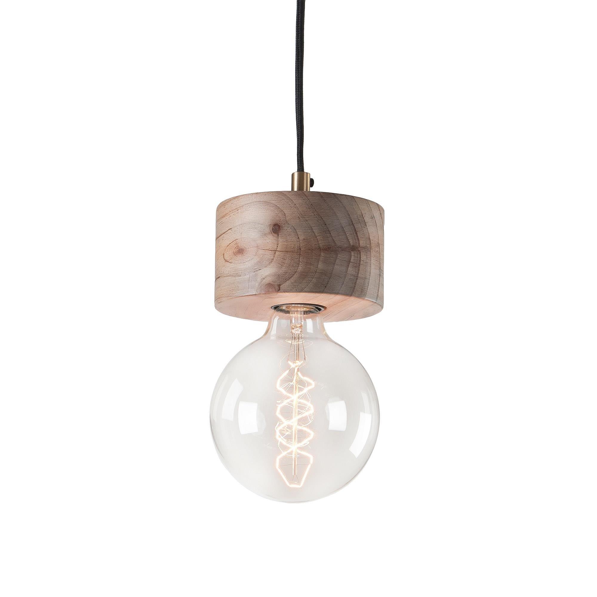 Lampa wisząca ARRAKIS Ø13cm naturalne drewno