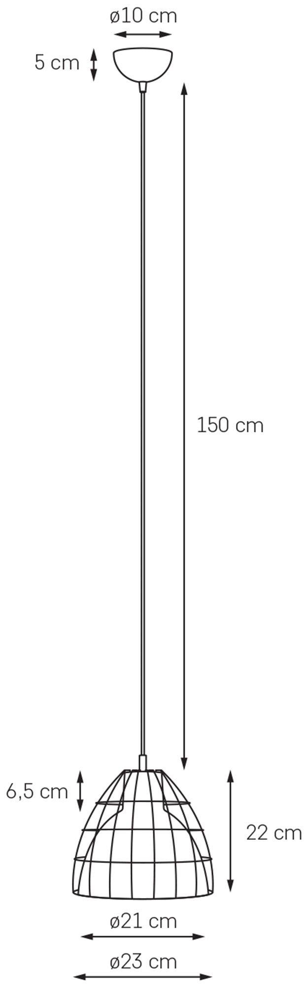 KASPA :: Lampa wisząca Frame M czarna z czarno-białym przewodem