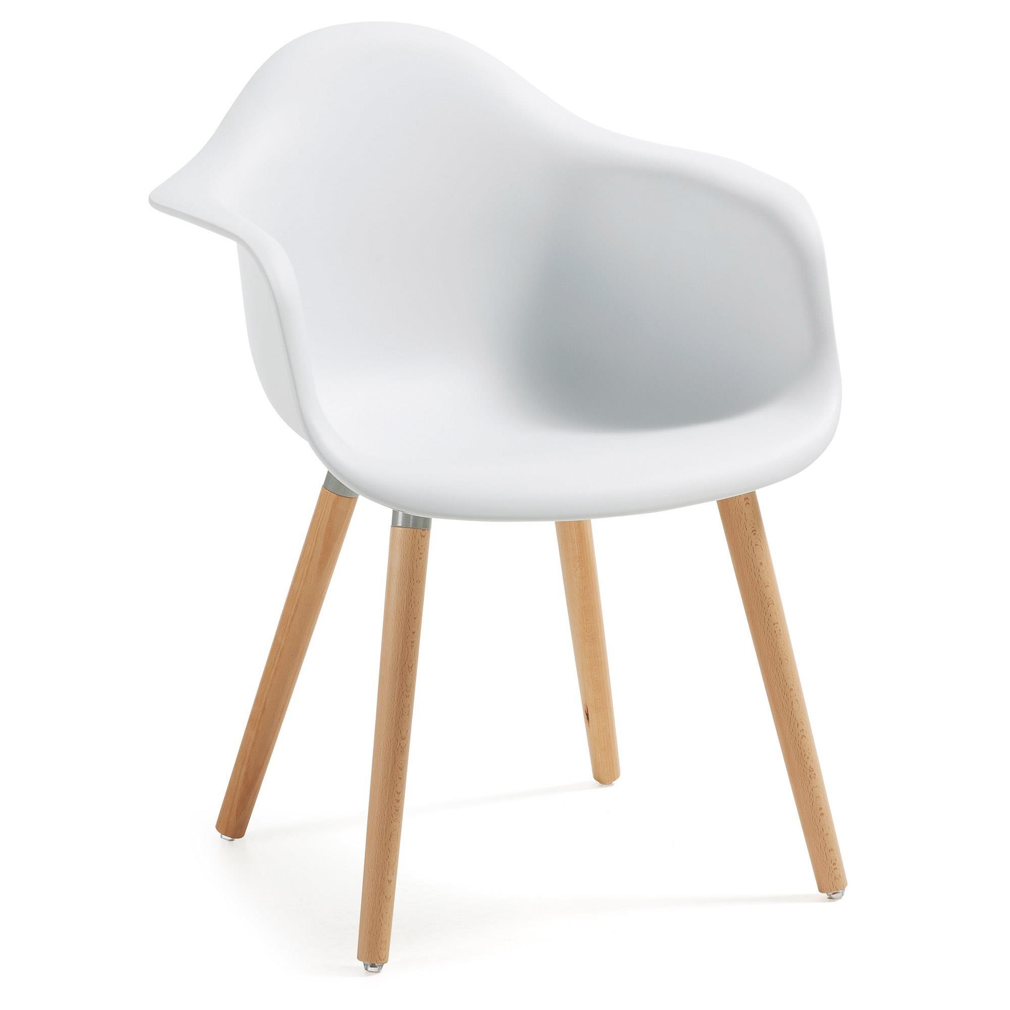 Krzesło TOME z podłokietnikiem plastikowe białe