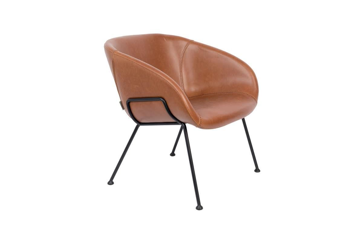 Fotel lounge FESTON brązowy