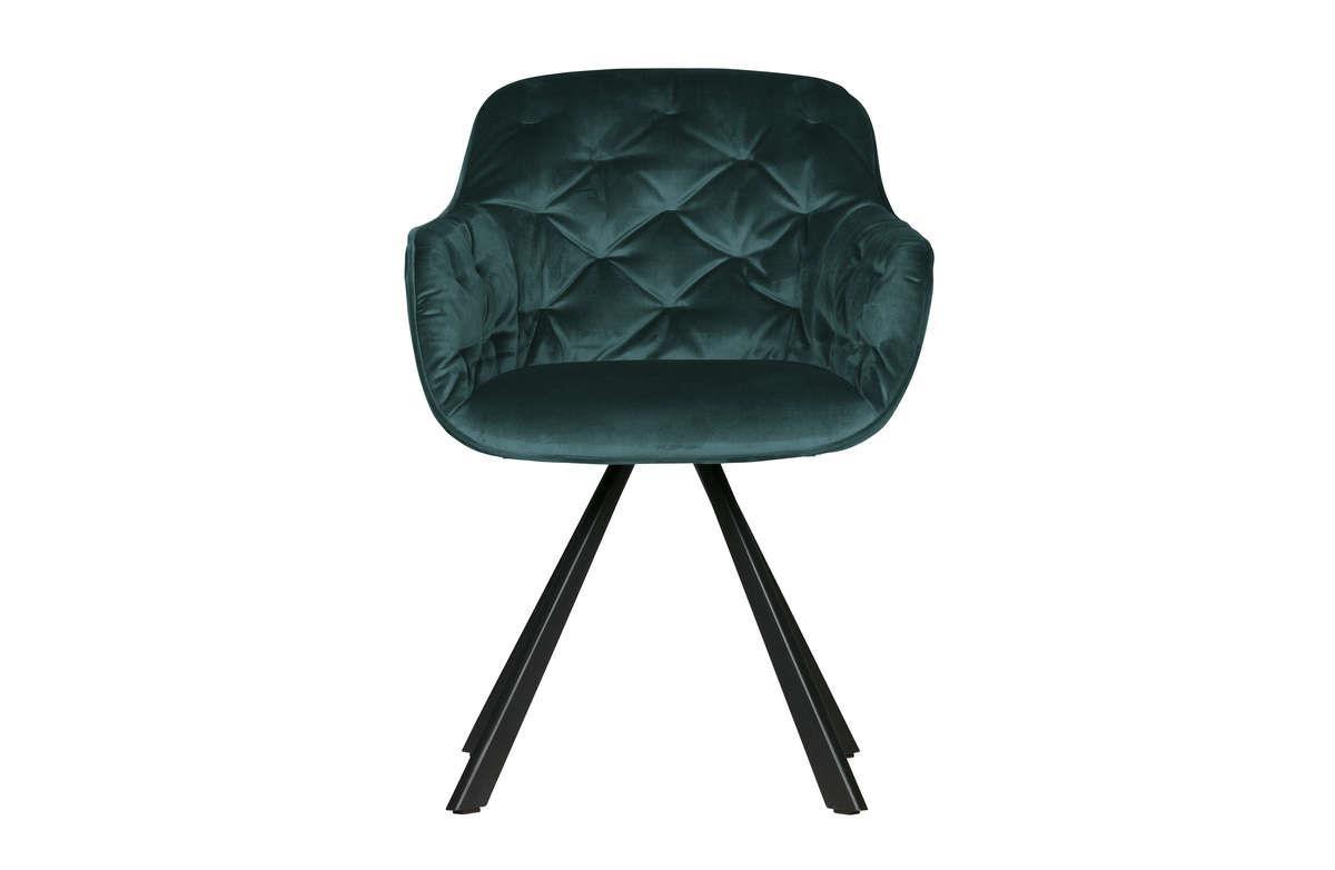 Woood :: Krzesło do jadalni Elaine aksamitne morskie