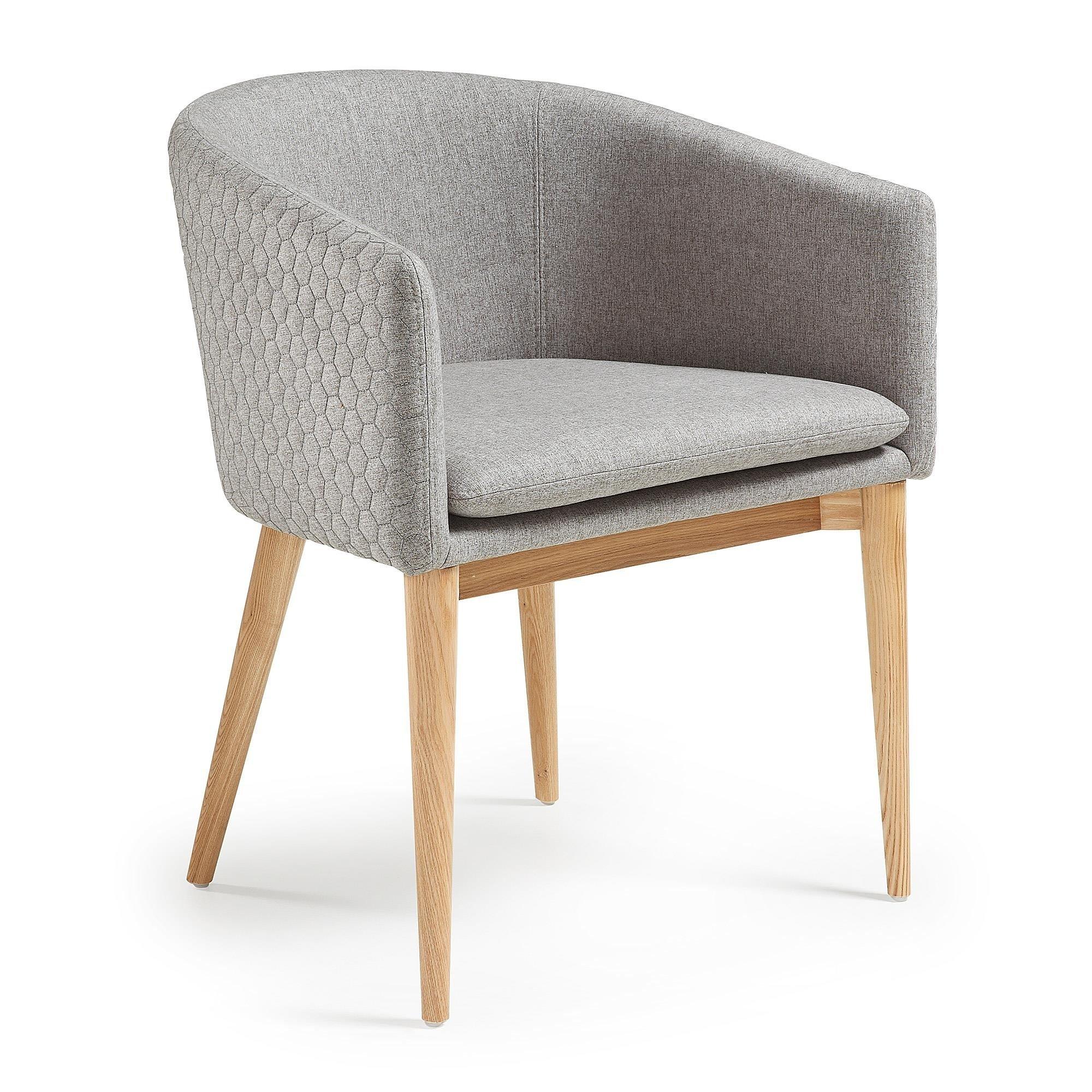 Krzesło JOSE z podłokietnikami jasnoszare
