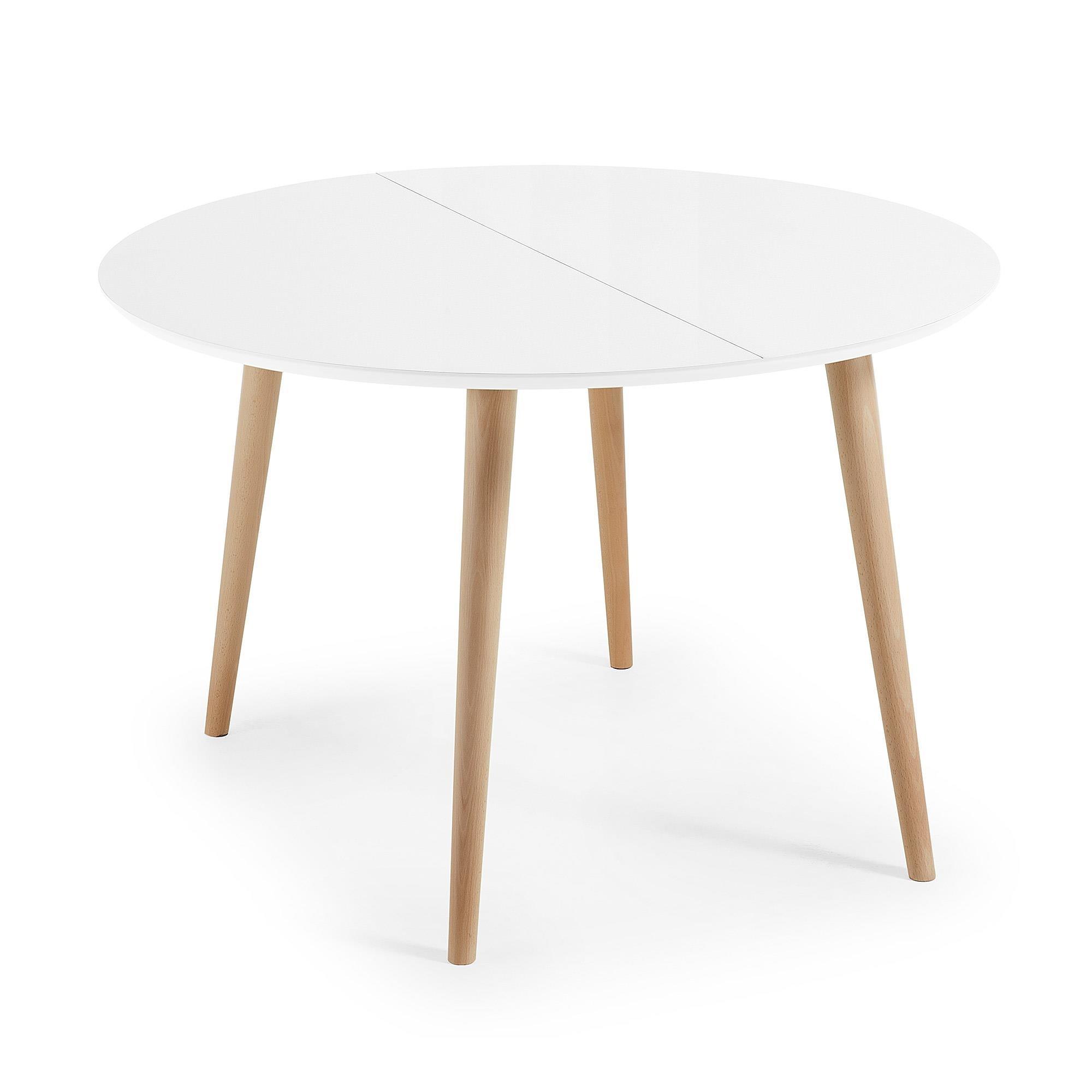 Stół rozkładany Carina Round 120(200)x120cm biały