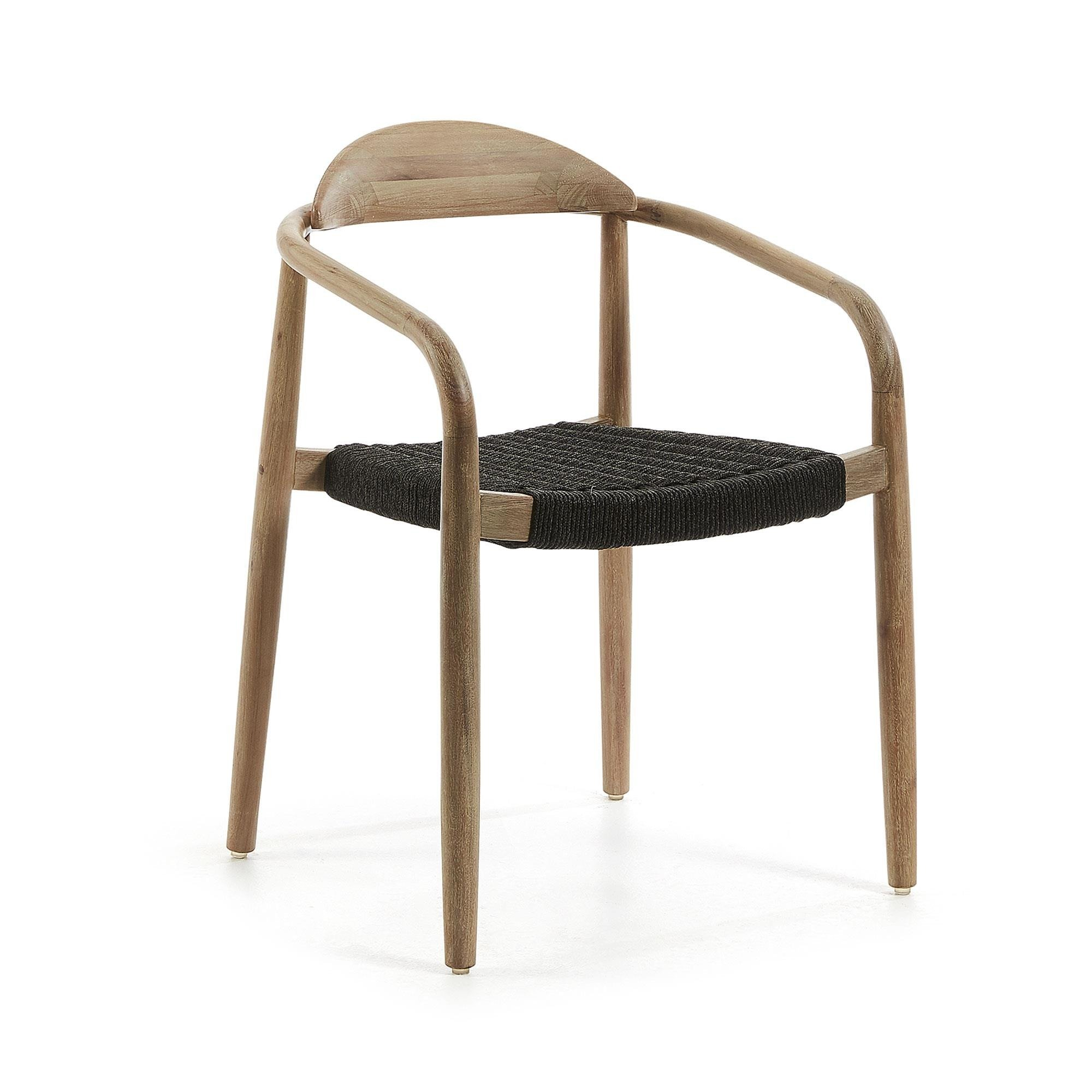 Drewniane krzesło ARRICE ciemnoszare
