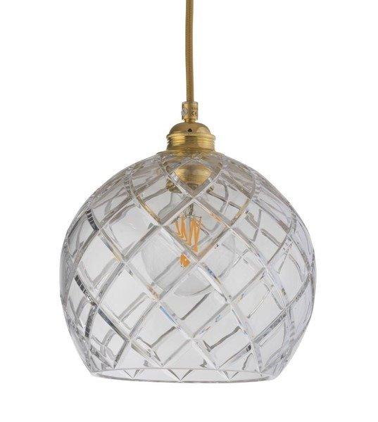 EBB & FLOW :: Lampa wisząca Rowan Crystal Ø22cm gold