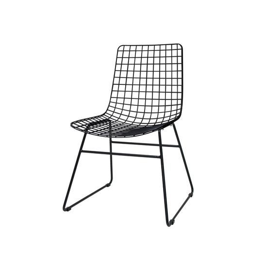 HK Living :: Krzesło WIRE czarne