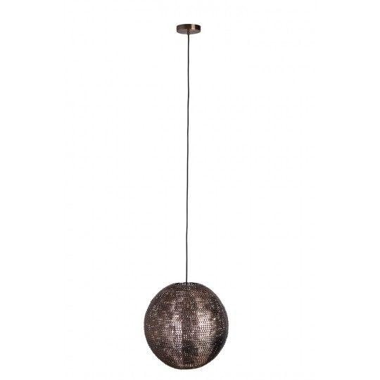 Dutchbone :: Lampa wisząca COOPER okrągła miedziana Ø40cm