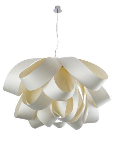 LZF :: Lampa wisząca Agatha duża 144x76 (BIAŁA)