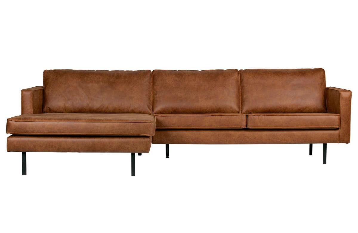 Sofa narożna lewostronna Rodeo koniak