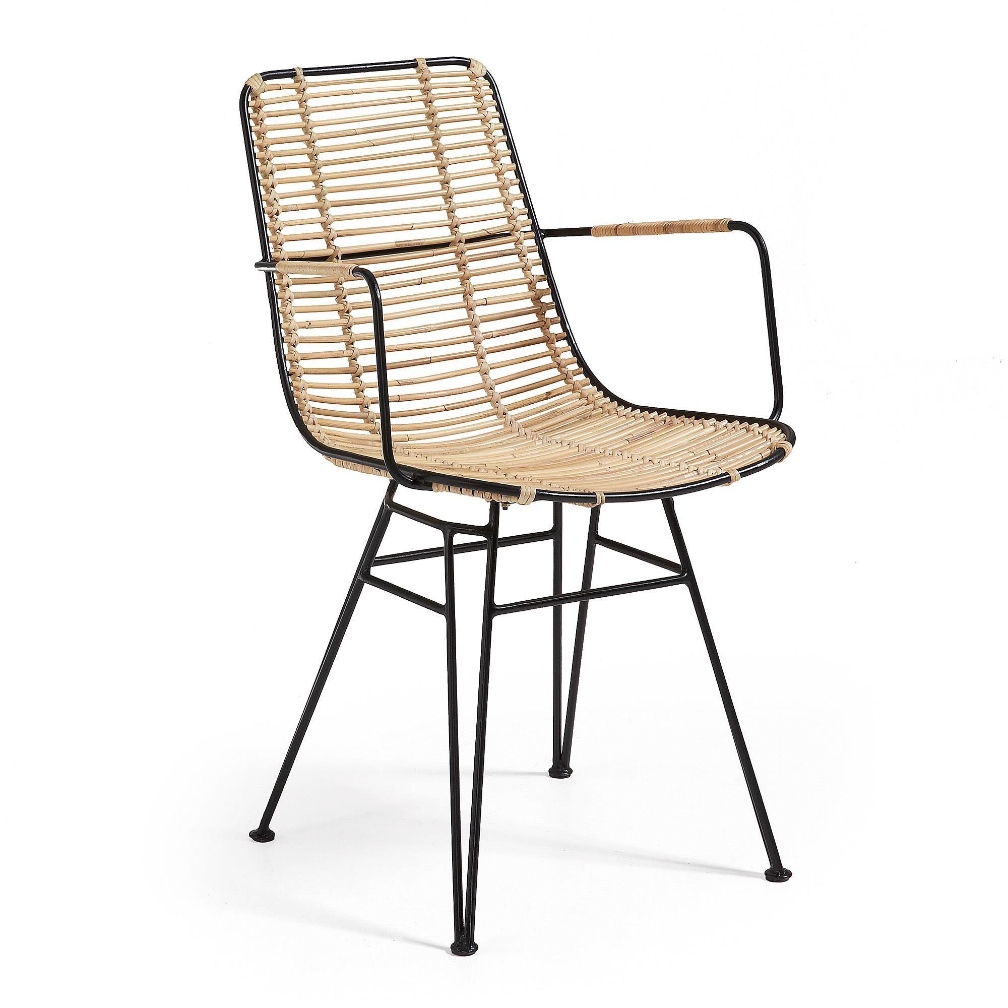 Fotel MEISSA z podłokietnkami rattanowy