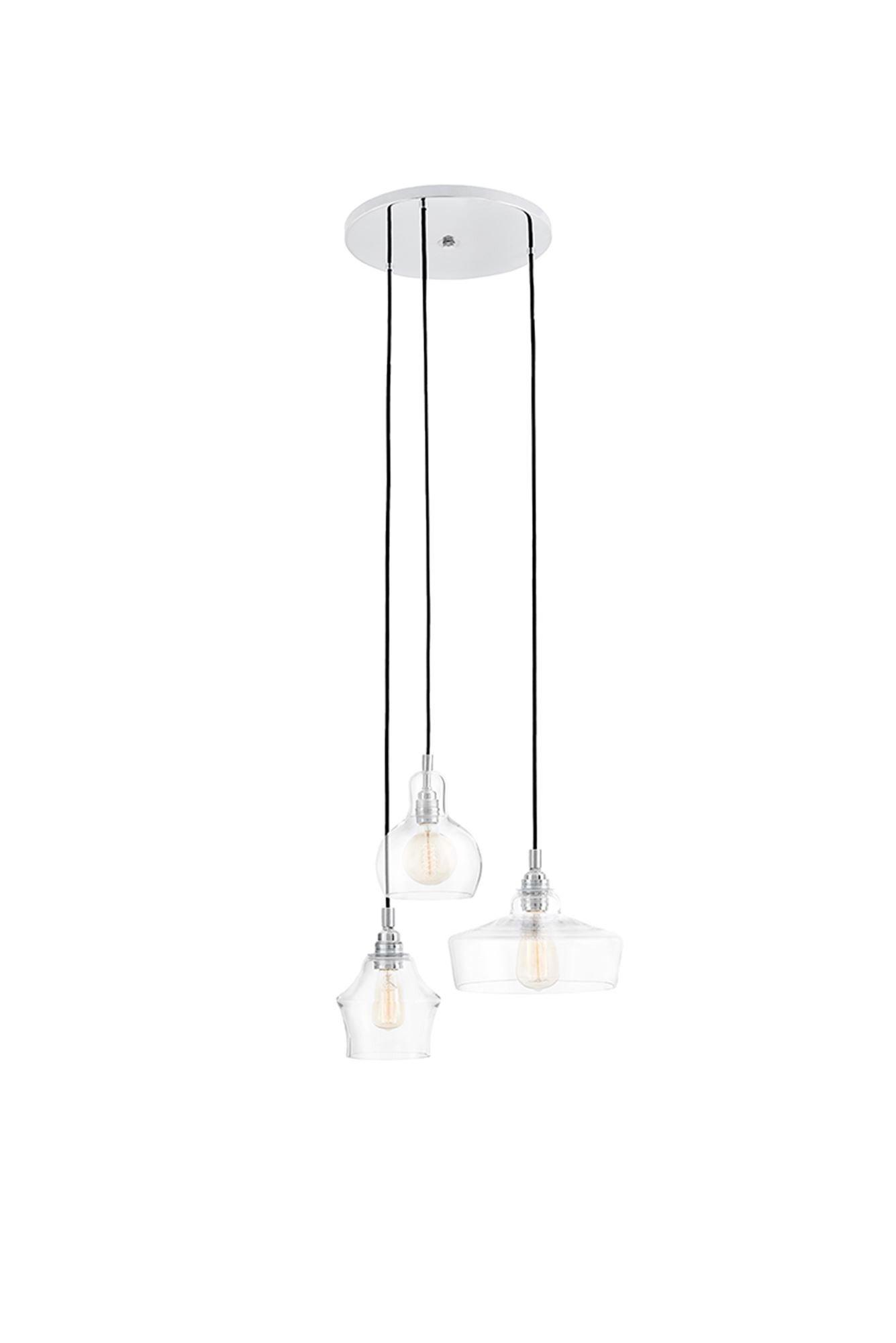 KASPA :: Lampa wisząca Longis Round - 3 klosze