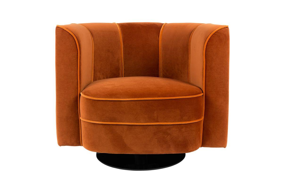 Dutchbone :: Fotel Lounge Flower Pomarańczowy