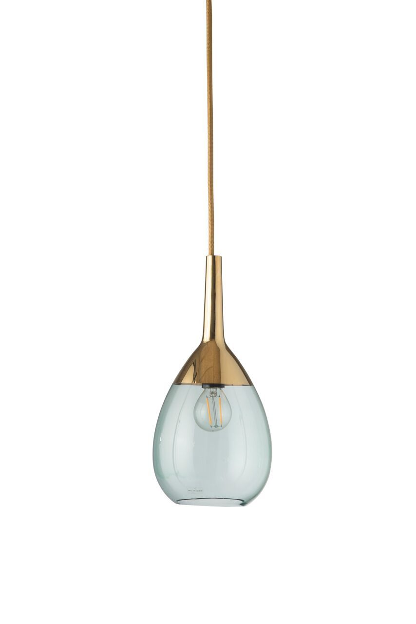 EBB & FLOW :: Lampa wisząca Lute Ø14cm zielono-złota