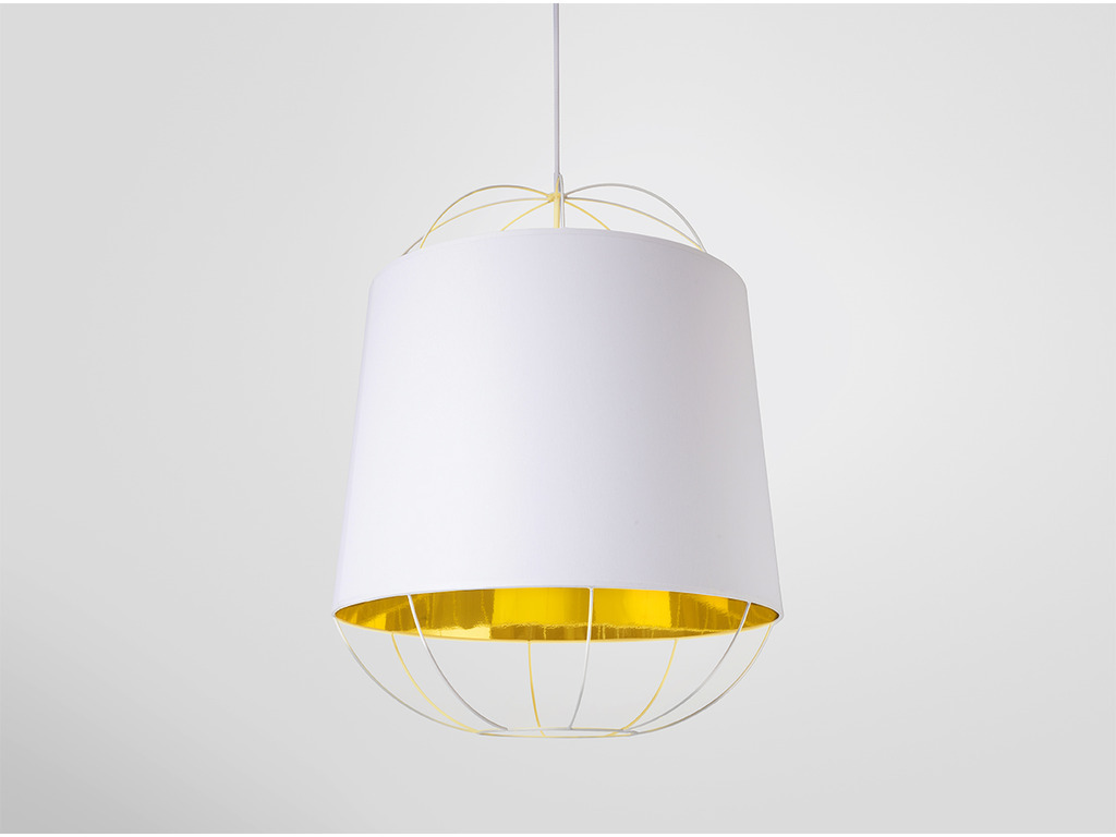 Petite Friture :: Lampa wisząca LANTERNA M biała/złota