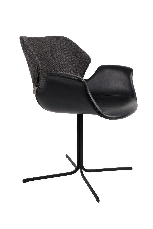 Zuiver :: Krzesło Nikki ciemnoszare