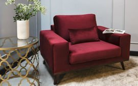 9design Collection :: Armchair Modena burgundy