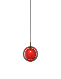 Bomma :: Lamp LENS  single pendant  red