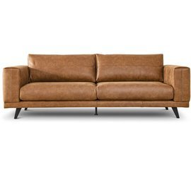 Nordic Line :: Upholstered sofa Praia brown 239x82x91.5