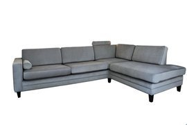 Nordic Line :: Upholstered sofa Tokyo grey 266x82x93
