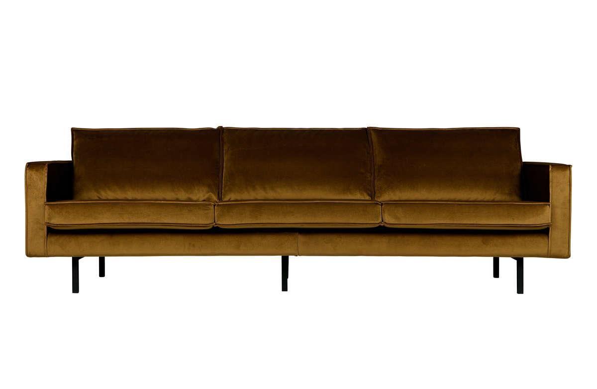 Magnificent Be Pure Sofa Velvet Rodeo 3 Person Honey Color Dailytribune Chair Design For Home Dailytribuneorg