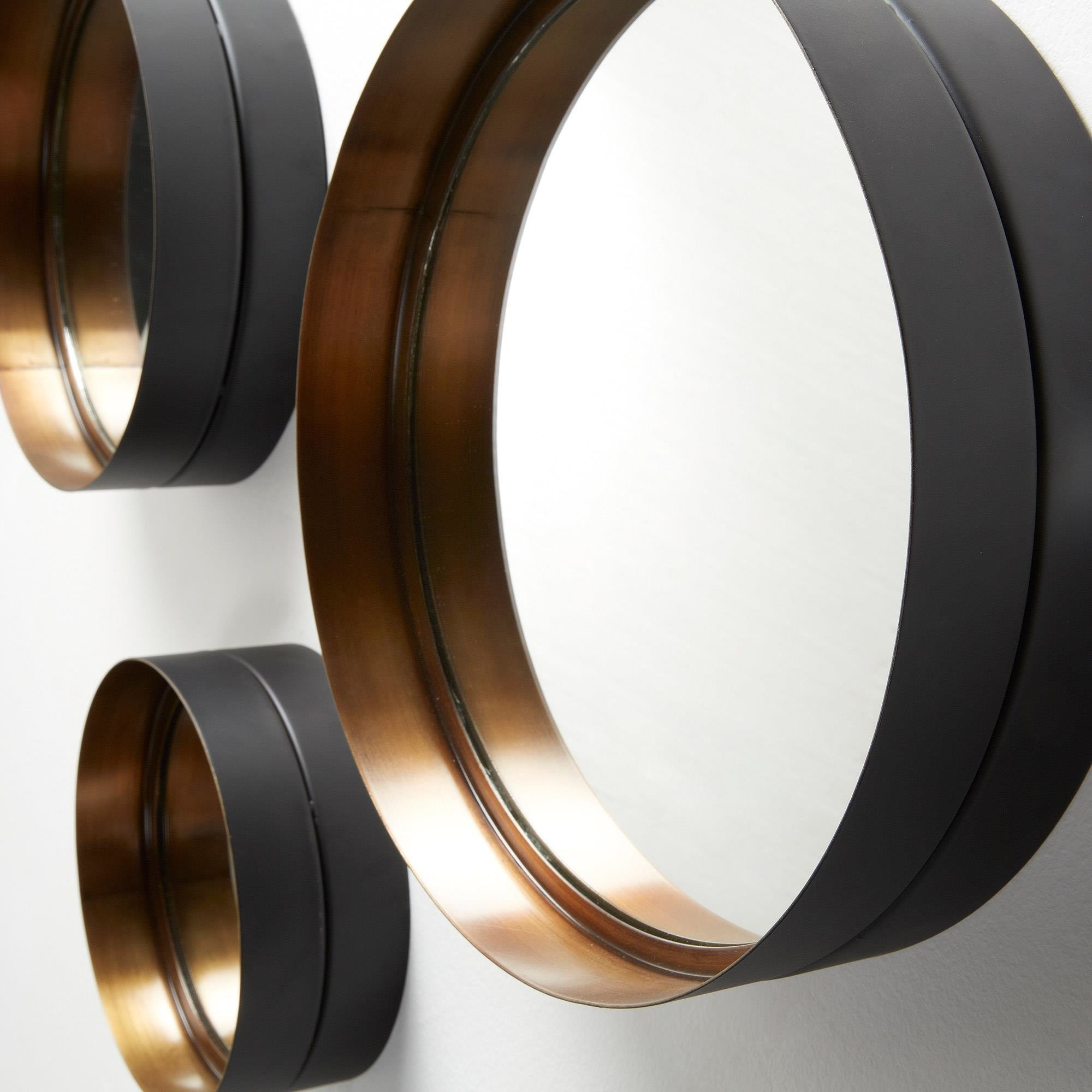laforma wilson set 3 mirrors metal gold laforma aa0137r83 9design warszawa. Black Bedroom Furniture Sets. Home Design Ideas