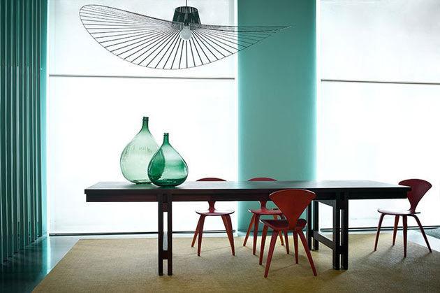Petite Friture Hanging Lamp Vertigo Green Dia 200cm