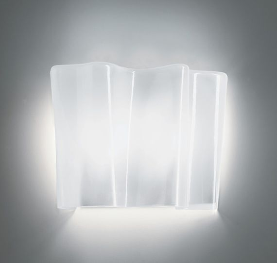 Artemide :: Logico Parete halogen, shade silk finish, gray mounting