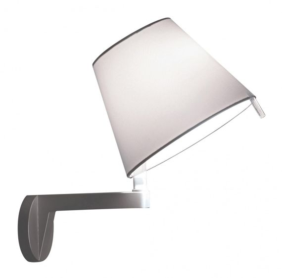 Artemide :: Melampo parete body and Shade gray aluminum (with on/off switch)