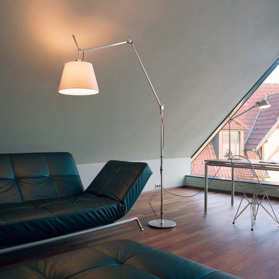 Artemide :: Tolomeo Mega terra on/off switch (Shade DIA 36 parchment)