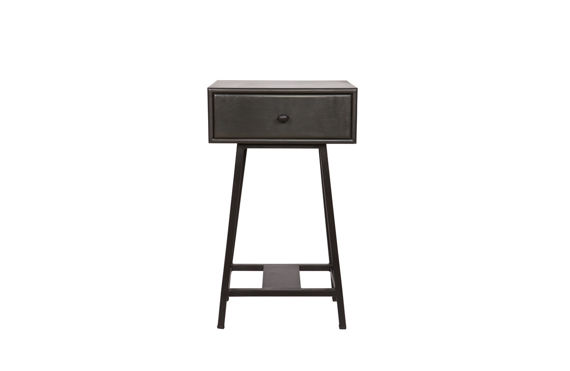Be Pure :: Side Table with drawer SKYBOX black 45x30cm
