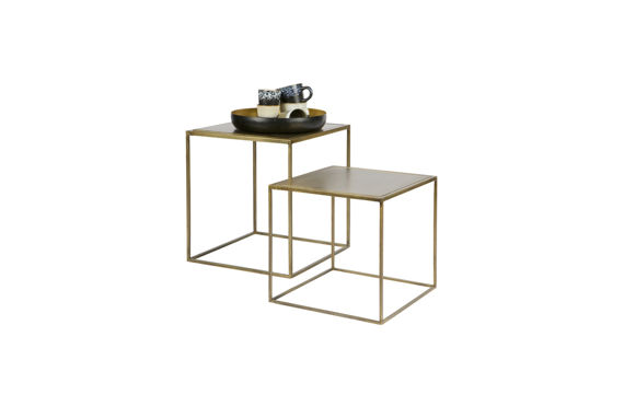 Be Pure :: Side Tables set of 2 brass