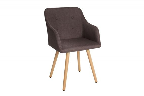Chair with armrests Annick -brown