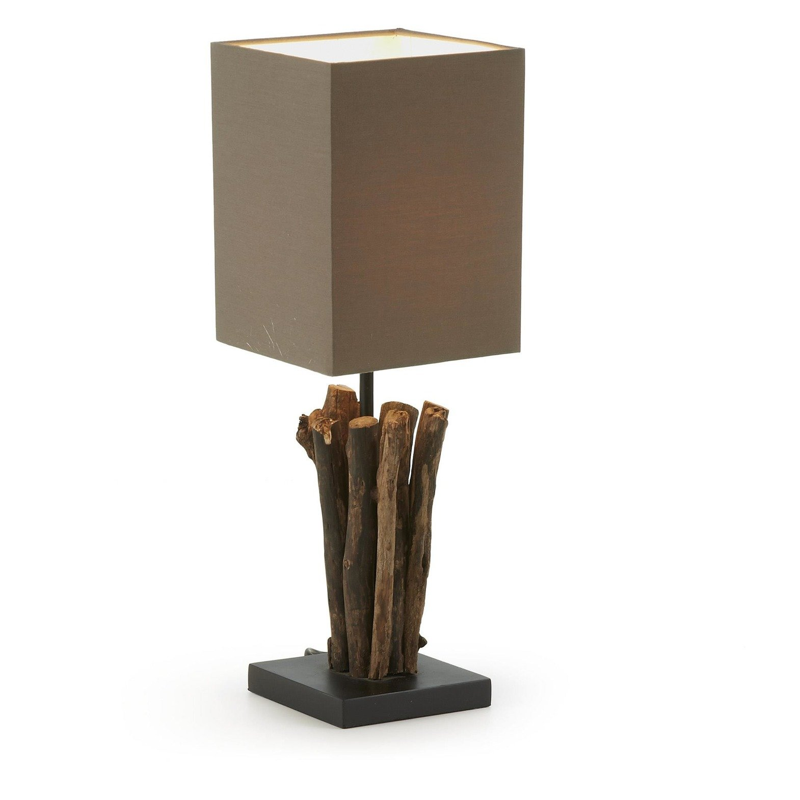 Dulciana Table lamp shade tropical wood brown