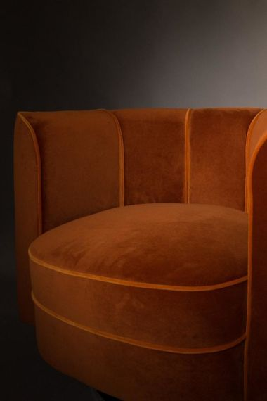 Dutchbone :: Armchair Lounge Flower orange