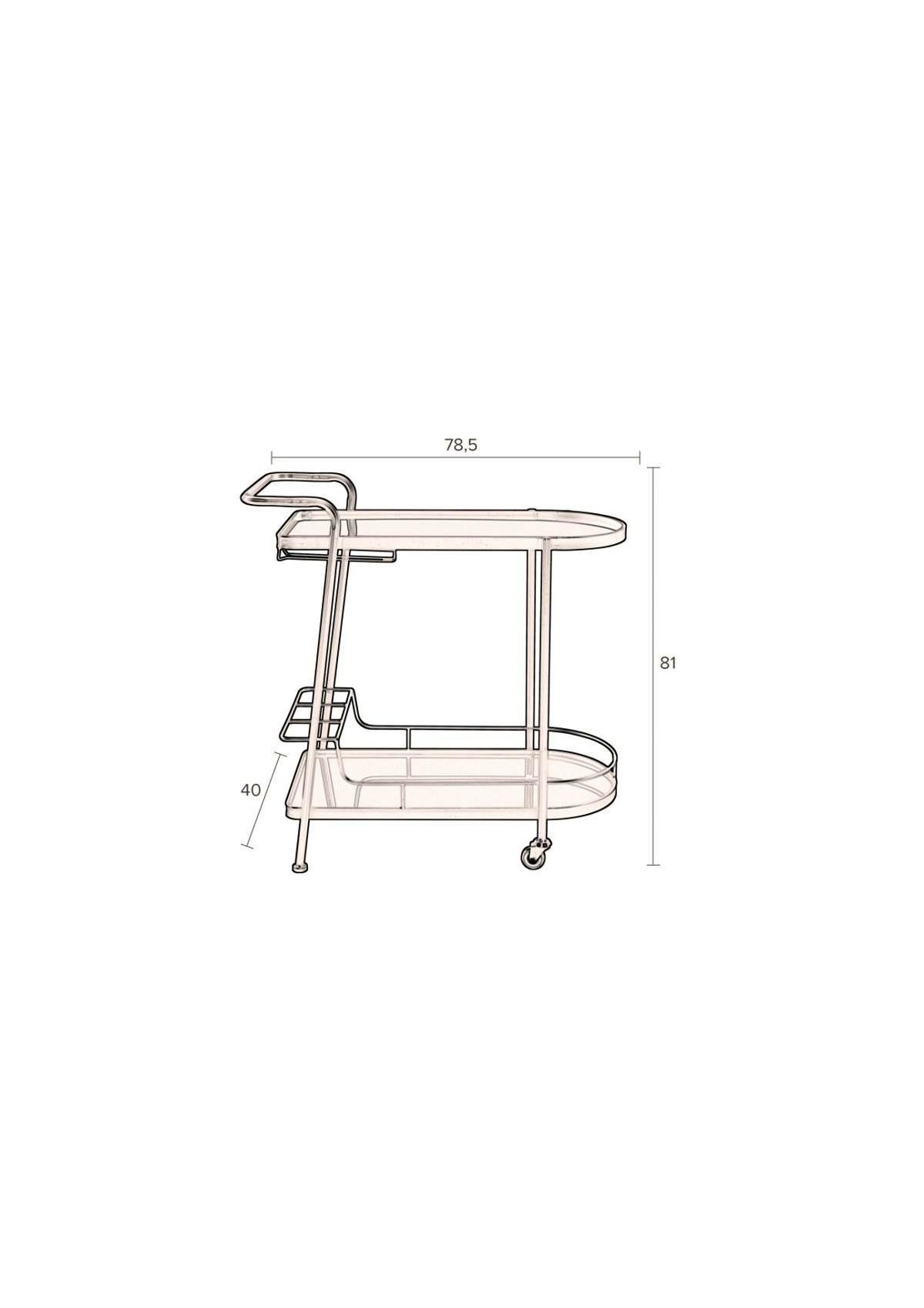 Dutchbone :: trolley GIULIA