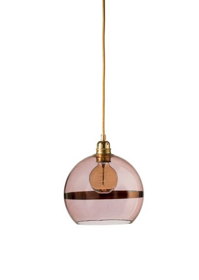 EBB & FLOW :: Rowan Hanging Lamp ?22cm copper stripe on obsidian