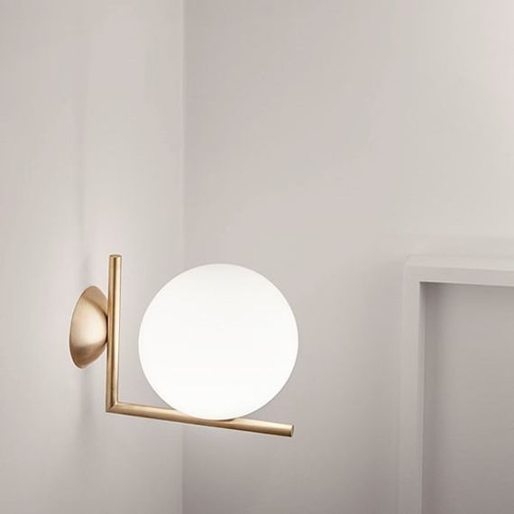 Flos :: Lamp Sconce IC C/W2 - brass