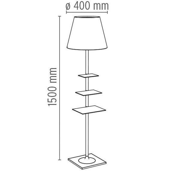 Flos :: Lampa Podłogowa Biblotheque Nationale fabric
