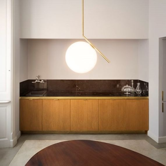Flos :: Pendant Lamp IC S2 - brass